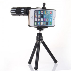 iphone telephoto lens-12x iphone telescope-optake metal monocular-wide angle camera